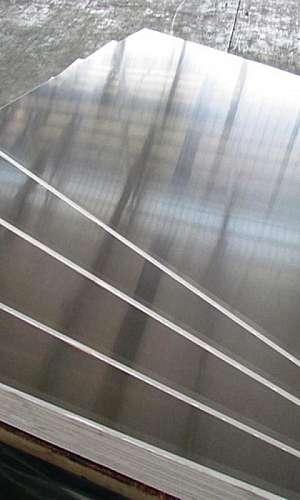 Chapas de alumínio recortadas
