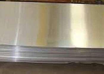 Chapa de alumínio escovado