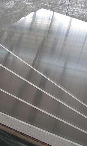 Discos e chapa de alumínio