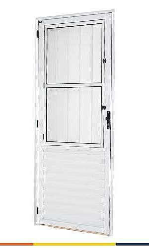 Fábrica de portas de alumínio branco