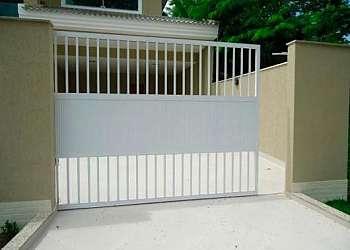 Chapa de alumínio branca para portão